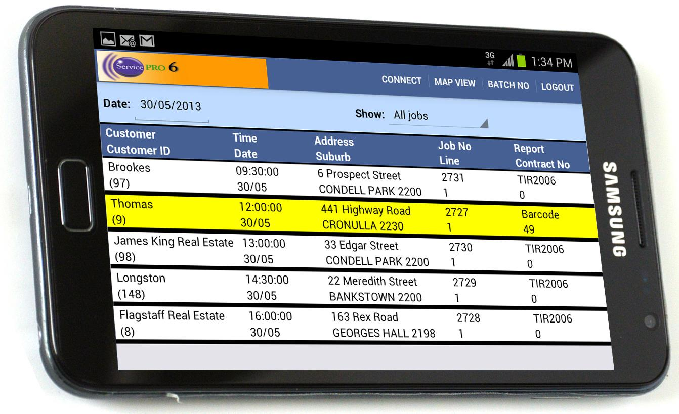 ServicePRO-Online EZYReports Inspection Software Galaxy Tab
